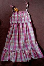 Pretty BLUE ZOO pink sparkly check DRESS 11 years.
