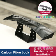 Universal Mini Carbon Fibre Look Rear Tail Empennage Wing Body Kit Trim For Car