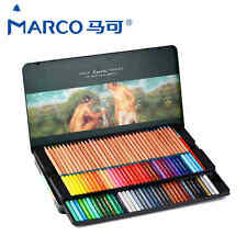 72 Colors Marco Renoir Fine Art Water Color Drawing Pencil Tin Set Stationery