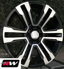 "20"" inch 20 x9"" Wheels for Chevy Avalanche Black Machined GMC Denali Rims"
