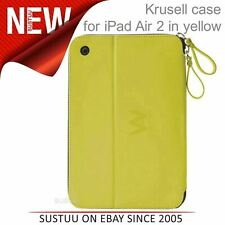 Krusell velvet look Tablet Flip Case Cover│Water Splash Proof│iPad Air 2-Yellow