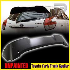 Unpainted For TOYOTA  Yaris 4DOOR Hatchback T-Style Rear Spoiler Trunk Wing LE