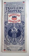 "1900's ""American Express Co."" Pamphlet w/ Nice Pictures of 1900's Carriages"