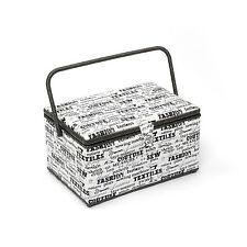 HobbyGift Classic Range Sewing Basket (Xlarge size) Monochrome HGXL165