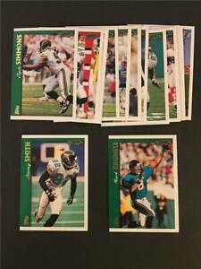 1997 Topps Jacksonville Jaguars Team Set 15 Cards