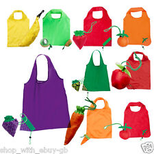 Lightweight Nylon Folding Reusable Grocery Fruit Tote Shopping Bag Coloured Lot