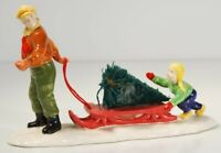 Dept 56 Snow Village ~ Bringing Home The Tree ~ Mint In Box 51691