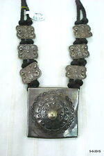 ancient antique old silver necklace pendant tribal jewellery india