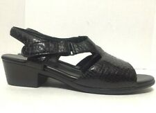SAS Suntimer Slingback Sandals Black Croc Print Open Toe Womens Size 11M