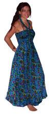 Vestidos de mujer de color principal azul 100% algodón talla S