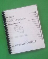 LASER PRINTED Fujifilm XP80 XP-80 Camera 138 Page Owners Manual Guide