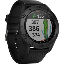 Garmin Approach S60 Preloaded Golf Range Finder GPS Watch 2017 - Black Rubber
