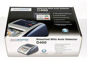 AccuBANKER D450 Bleached Bills Auto Detector