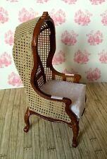 Silla Con Capucha, casa muñeca miniatura, muebles, calidad, asientos, escala 1.12