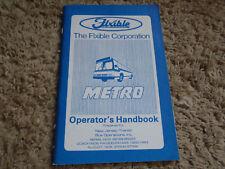 Nos Njt Flxible Metro Bus Operator's handbook New Jersey Transit