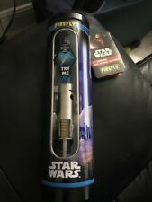 Firefly Star Wars Blue Light Saber Talking Toothbrush Rey New!!!