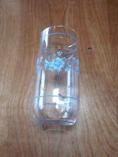 Arcopal France Glassware GLENWOOD Set of 4 16 oz Tumblers Blue Flowers