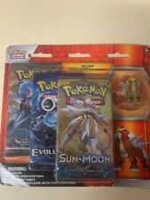 Pokémon With Pin Set With 3 Booster Packs For Card Game TCG CCG #Entei