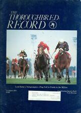 1985 Thoroughbred Record Magazine: Lord Derby's Teleprompter- Flag Fall Million