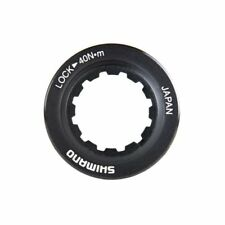 Shimano RT98 Centerlock Disc Rotor Lockring Black/Alloy, for use with 9/10mm Axl