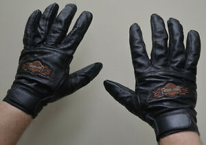 Harley Davidson Full Finger Black Goatskin Leather Gloves size 2XL