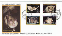 Cyprus Greek 2003 Mediterranean Horseshoe Bat, FDC - Animals, WWF