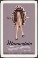 Playing Cards Single Card Old MANNEQUIN STOCKINGS NYLONS Advertising GIRLS LEGS