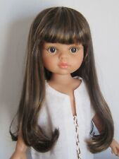 """Mix color dark blonde//pale wig for 13/"""" Paola Reina doll-Head sz 8//9/"""" 20//21cm"""
