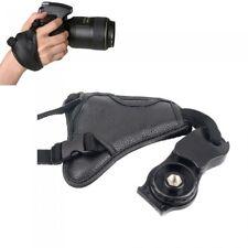 Pelle PU universale fotocamera reflex digitale/cinturino da polso Hand Grip UK Venditore