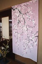 Japanese NOREN Curtain SHIDARE SAKURA Drooping cherry tree