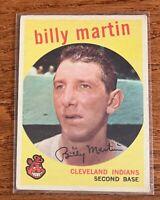 1959 Topps #295 Billy Martin Cleveland Indians Baseball Card