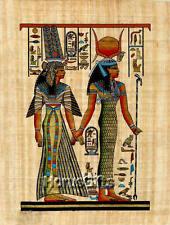 **Rare** Genuine Hand Painted Authentic Egyptian Papyrus (Isis, Queen Nefertari)