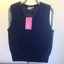 Trutex Navy Blue 32'' School Jumper V Neck Sweat New sleeveless GIRLS gilet  C