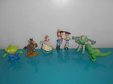 Lot 7 Figurines Toy story Disney Woody Rex buzz alien Pile poil bo peep jessie