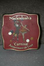 Vintage Mackintosh's Toffee or Chocolate Tin with Dancing Harlequin 1940's 50's