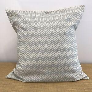 "18"" (45x45cm) LIGHT GREY CHEVRON Cushion Pillow Cover. Handmade Australia"