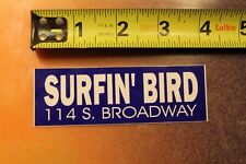 Surfin' Bird Surf Shop Surfboards Broadway V9 Vintage Surfing Sticker