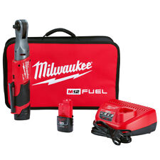 Milwaukee 2557-22 12-Volt 3/8-Inch 55-Ft-Lbs. Lithium-Ion Cordless Ratchet Kit