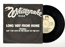 "WHITESNAKE - LONG WAY FROM HOME - 7"" 1981 E.P. 3 songs UK press VG+/EX hard rock"