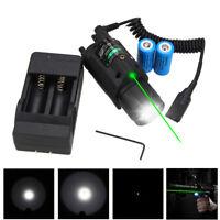 Powerful Combo LED Flashlight GREEN/RED Laser Sight & Picatinny Rail Mount 16340