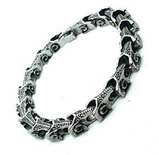 "316L Stainless Steel Serpent Dragon Link Bracelet 8"" Length Very Detailed"