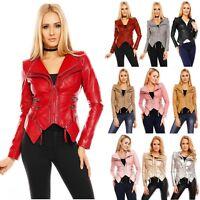 Noemi Kent Women's Asymmetrical Faux-Leather Jacket - S/M/L/XL