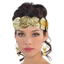 Griego Diosa romana dorado laurel Hojas Corona diadema Disfraz Toga Disfraz