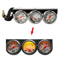 Universal 2.27'' Car Triple Gauge Kit 3in1 Water Temp VOLTAGE Volt Oil Pressure