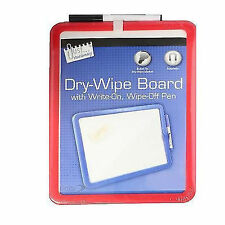 A4 Dry Wipe MAGNETIC BACKED WHITEBOARD Mini Office Notice Memo STICK TO FRIDGE