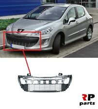 FOR PEUGEOT 308 2007 - 2011 NEW FRONT BUMPER CENTER GRILLE SILVER 7414VH