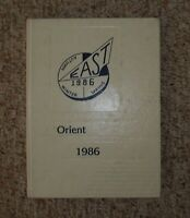 1986 Orient East high yearbook Rochester NY
