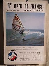 AFFICHE SURF  COTE DES LANDES  1980 PHOTO