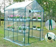 Portable 3 Tier Plants Cover Waterproof 6 Shelves Greenhouse Gardening Covers