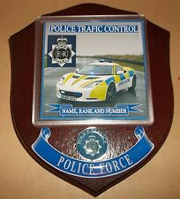 Police Traffic Control Wall Plaque personalised free of charge.